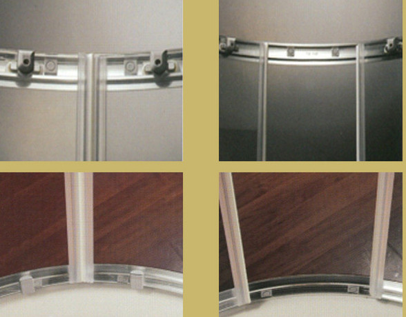 Box doccia semicircolare doppia porta scorrevole con - Porta scorrevole doppia ...