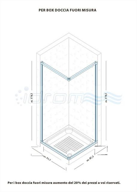 Box doccia semicircolare in pvc con apertura laterale idsoal - Tipi di doccia ...