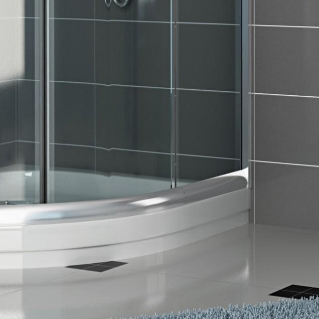 Box doccia vetro semicircolare doppia porta scorrevole - Porta scorrevole doppia ...