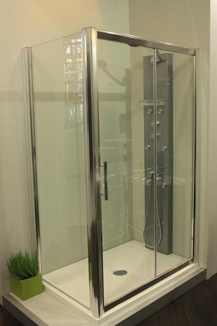 Box doccia wako box singola porta scorrevole - Porta in cristallo scorrevole ...