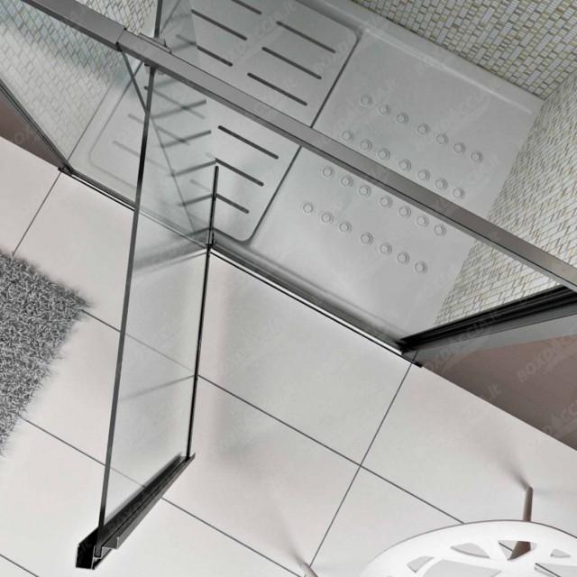 Porta doccia nicchia con anta battente cristal for Porta doccia nicchia prezzi