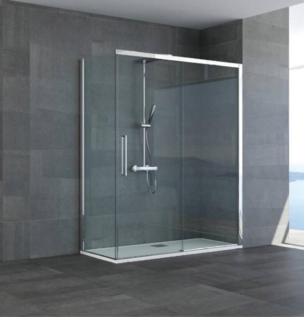 Box doccia ad angolo mod lorena - Chiusura doccia scorrevole ...