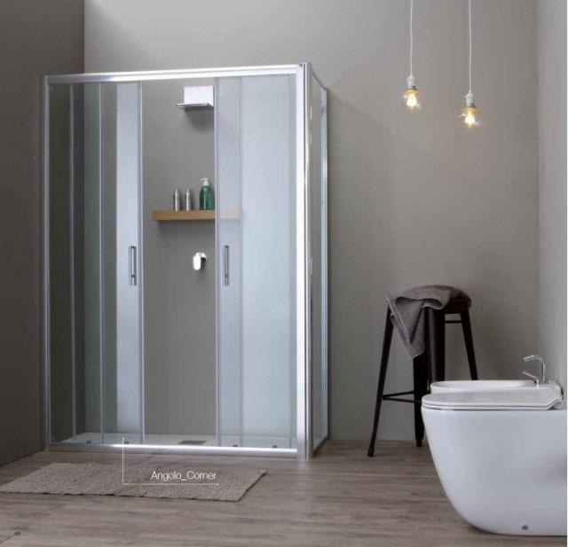 Box doccia con porta scorrevole psc57 - Porta scorrevole cristallo ...