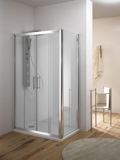 Box doccia in cristallo kama box anta scorrevole for Box doccia cristallo