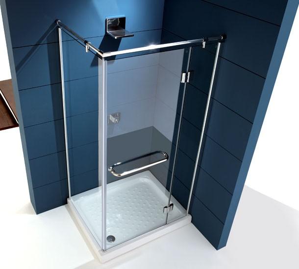 Box doccia rettangolare apertura a battente b71 for Doccia rettangolare