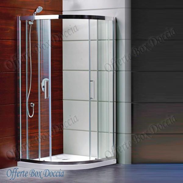 Box doccia semicircolare doppia porta scorrevole ft8090 for Box doccia scorrevole