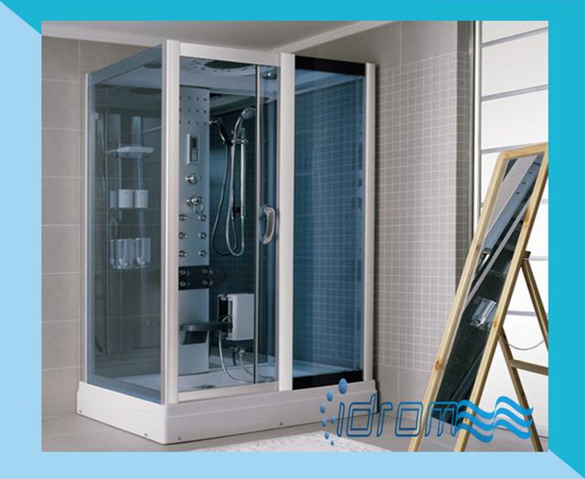 Cabina box doccia idromassaggio con sauna 120x90 for Box doccia con idromassaggio
