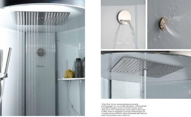 Cabina Multifunzione 80x80 : Cabina doccia idromassaggio vasca sauna bagno turco box
