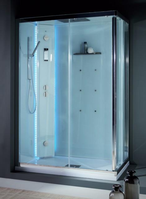 Cabina doccia multifunzione white space vapor rettangolare for Doccia multifunzione