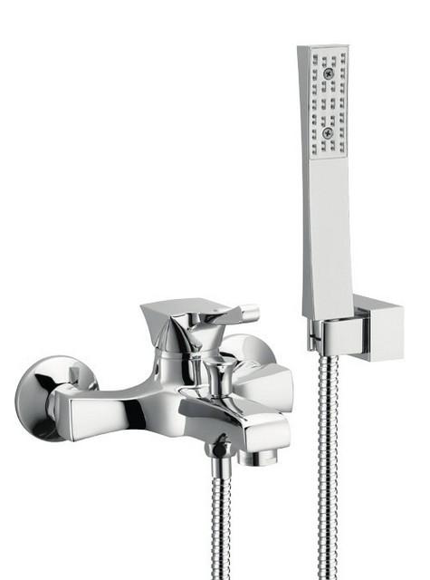 Monocomando vasca con doccia duplex e flessibile doppia aggraffatura chic cromato nichel bronzato - Vasca da bagno doppia ...