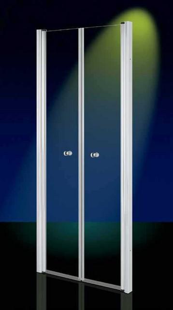 Porta doccia in cristallo 6mm 39 saloon door 39 apertura con - Ante per doccia ...