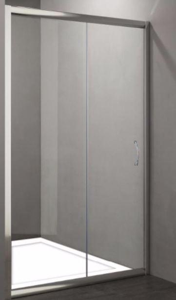 Porta per doccia a nicchia apertura scorrevole p100 160 - Porta scorrevole per doccia ...