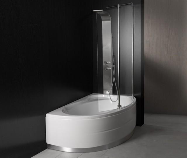 Vasca da bagno combinata con box doccia vancouver - Vasca da bagno con piedini ...