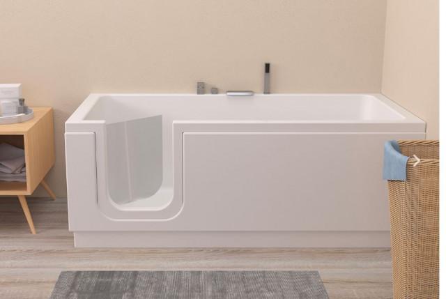 Vasca Da Bagno Salvaspazio Con Sportello Easy 150x70 170 X70