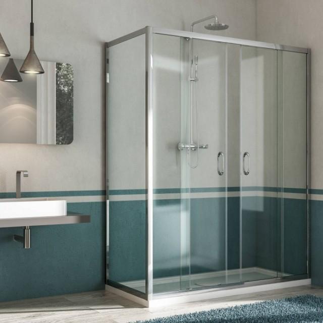 Box doccia doppia porta scorrevole replay - Misure porta scorrevole ...