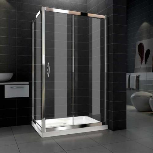 Box doccia in cristallo con singola porta scorrevole 016 for Box doccia scorrevole