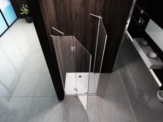 Box doccia in cristallo opaco con apertura battente esterno 049op - Siliconare box doccia interno o esterno ...