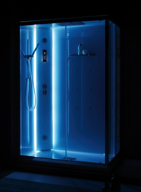 Cabina Doccia Multifunzione 80x120.Cabina Doccia Multifunzione White Space Vapor Rettangolare