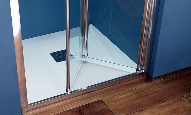 Porta a libro in cristallo per doccia a nicchia ps30 - Porta per doccia ...