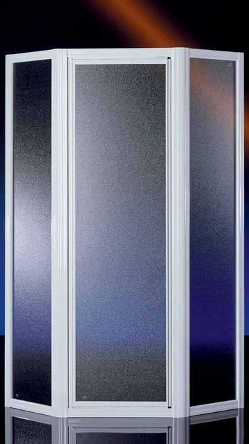 Porta doccia in cristallo 3 3mm 39 royal 39 ad angolo - Box doccia pentagonale ...