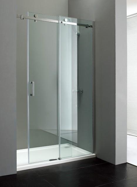 Porta per doccia a nicchia con apertura scorrevole am - Chiusura doccia scorrevole ...