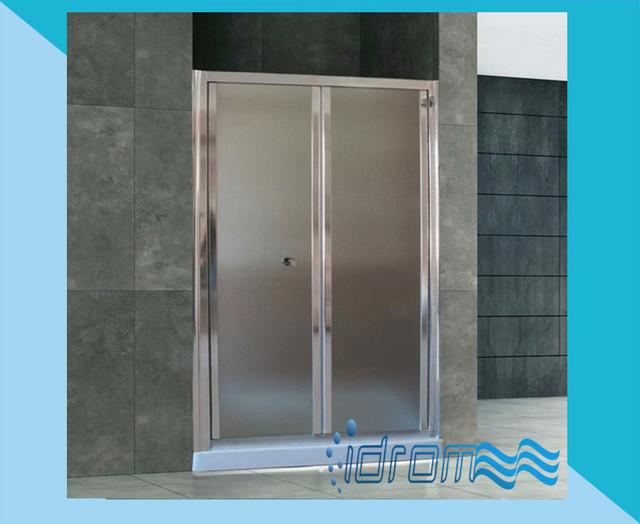 Porta doccia a libro vetro 6mm opaco o trasparente 70 80 - Altezza box doccia ...