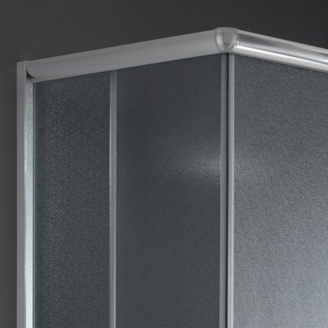 Box doccia con doppia porta scorrevole alabama 200 - Porta in cristallo scorrevole ...