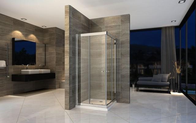 Box doccia in cristallo con doppia porta scorrevole 015 - Porta scorrevole doppia ...