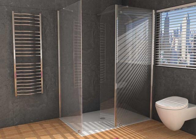 Box doccia in cristallo trasparente 6mm 39 panorama2 39 con - Box doccia trasparente ...