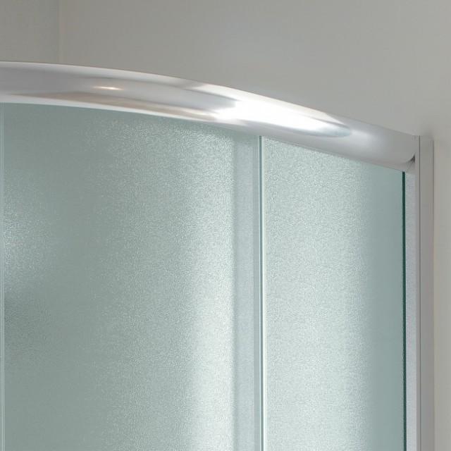 Box doccia vetro semicircolare doppia porta scorrevole - Porta vetro scorrevole prezzo ...
