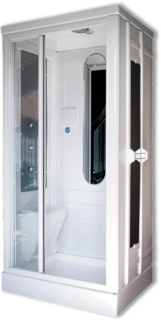 Cabina doccia idromassaggio mod rettangolare 75x90 100x80 - Box doccia cromoterapia ...