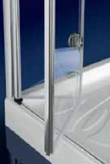 Porta doccia in cristallo 6mm 39 hidra door 39 apertura a - Porta a ventaglio ...