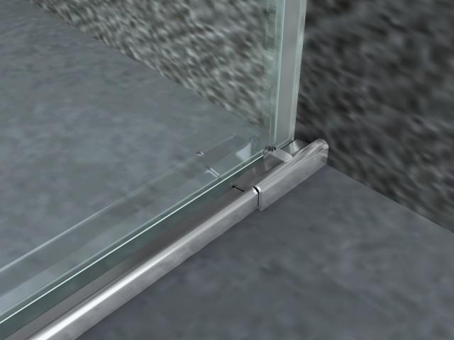 Porta in cristallo per doccia a nicchia chiusura soft close - Chiusura doccia scorrevole ...