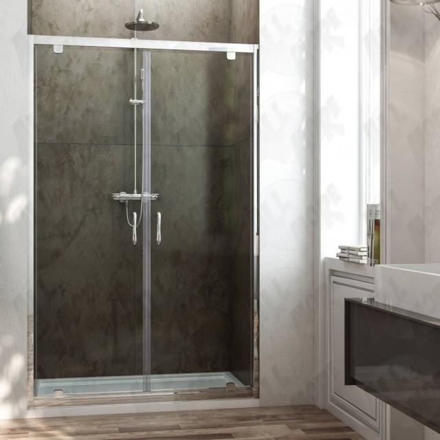 Porta saloon a 2 ante per doccia a nicchia sintesi - Porta doccia nicchia prezzi ...