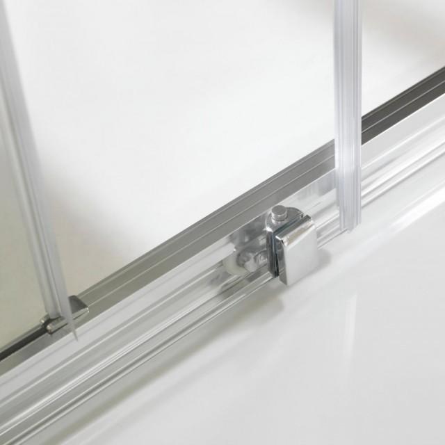 Porta scorrevole in cristallo per doccia a nicchia young - Porta in cristallo scorrevole ...