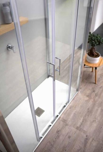 Porta scorrevole per doccia a nicchia psc57 - Chiusura doccia scorrevole ...