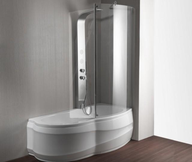 Vasca da bagno combinata con box doccia artesia - Bagno con doccia ...