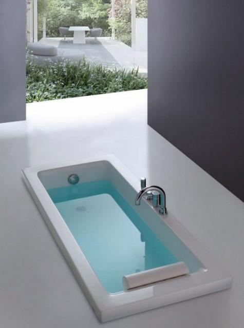Vasca da bagno rettangolare sharm3 - Bordo vasca da bagno ...