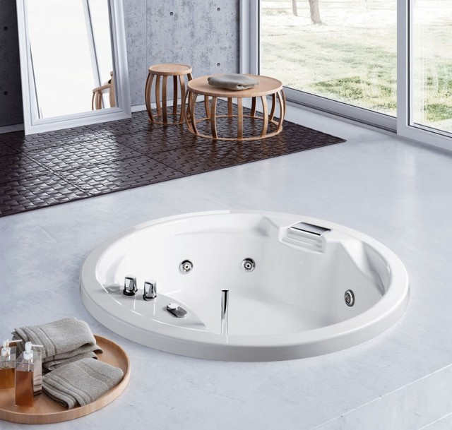 Vasca idromassaggio da incasso 2 posti lis 150 - Vasche da bagno ad incasso ...