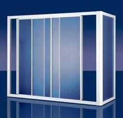 """BOX COPRIVASCA IN ACRILICO """"ORION BATH"""" - Porte con tre ante scorrevoli"""