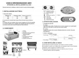 "VASCA IDROMASSAGGIO 2 POSTI ""A051"""