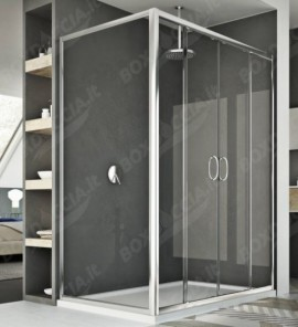 Box doccia doppia porta scorrevole replay for Doppia porta scorrevole