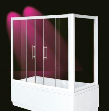 "BOX DOCCIA SOPRAVASCA IN VETRO Doppia porta apertura centrale ""ZED BATH BOX"""