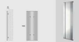 "Radiatore da bagno ""Empoli"" bianco 4 elementi 1800x600x1750 mm"