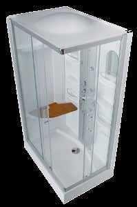 Box Rettangolare 'Pegaso' In Cristallo Trasparente da 6mm 120x80x210