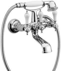 Gruppo vasca con doccia e flessibile doppia aggraffatura