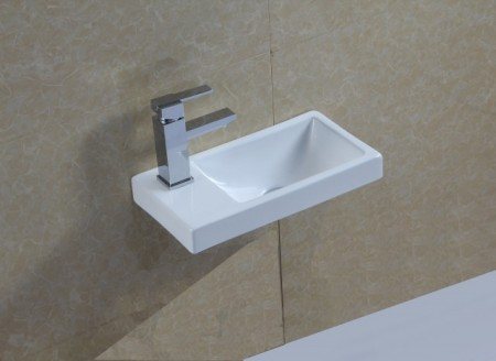 "Lavabo Sospeso in ceramica Rettangolare 40,5x21.5 h10.5 ""268"""