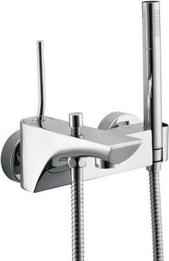 Monocomando vasca con doccia e flessibile doppia aggraffatura