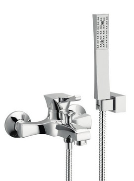 Monocomando vasca con doccia duplex e flessibile doppia aggraffatura Chic - Cromato/Nichel/Bronzato