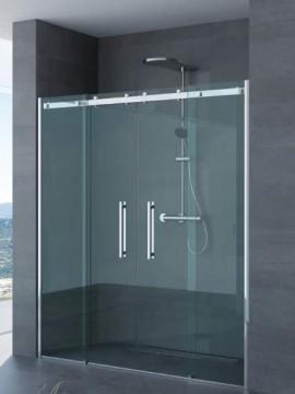 Porta doppia anta scorrevole per doccia a nicchia arianna for Porta doppia anta